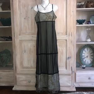Sue Wong Long Maxi Sheer Dress Woman's Large